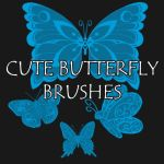 Cute Butterfly Brushes by petermarge