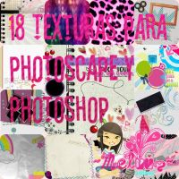 ZIP pack de texturas para Photoscape y Photoshop by Melyssa222