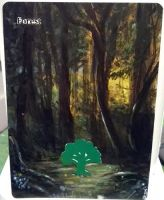 Magic The Gathering Alteration: Forest  9/17/14 by Ondal-the-Fool