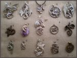 My dragon necklaces collection by AlviaAlcedo