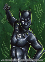Black Panther [Day 21] by wondering-souls