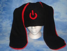 Power Symbol Bunny Hat- Red by HatcoreHats