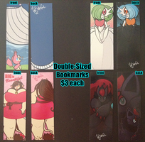 [Con Leftovers] - Double-Sided Bookmarks by TehButterCookie