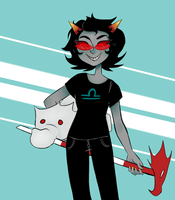 art trade : terezi pyrope by FristiServet