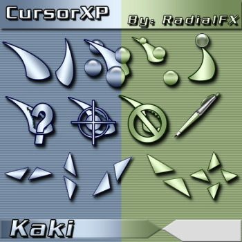 Kaki Cursors by rautry