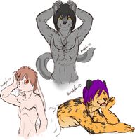Leo, Jeremia, and Alec by Bristlefurr by Luxordtimet