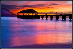 Watercolor Pier by aFeinPhoto-com