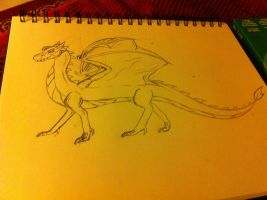 Paige The Forerunner Dragon Sketch 2 by DarkRedTigr