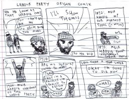 LABOUR PARTY ORIGIN COMIX 1 by MANeatingCLOTHES