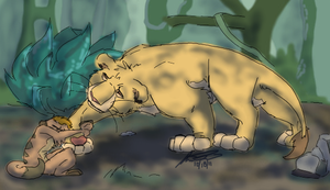 Simba Comforts Timon by SikiSpots