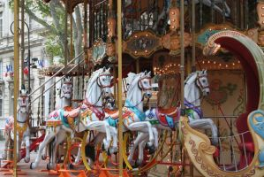 horses merry go round by ingeline-art