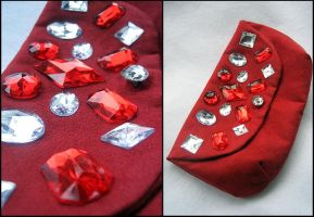 Red Rhinestone Clutch by Natalie526