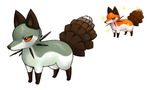 Pine fox fakemon by Kipine