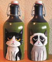 Grumpy cats by Frollino