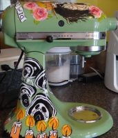 Day of the dead mixer side view by someofmywork