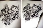 For Honor WIP 1 and 2- Ballpoint pen by Musiriam