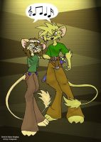 Timid and Raine Singing by ChaosStone