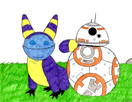 BB-8 and a Tooka by Firetear501