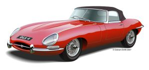 E Type Jaguar by yeahbutnobut