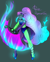 Collab- Gemfusion - Tanzinite and Fire Opal by GingerQuin