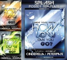 Splash poster  Flyer template by yuval10203