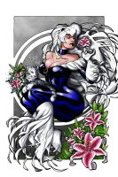 Black cat tiger lilly by culdesackidz