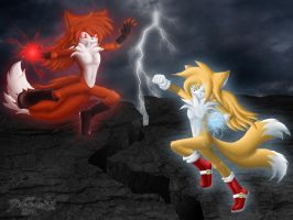 Tails vs. DarkTails by DarkTailsXZ