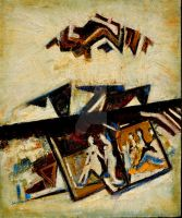 ABSTRACT-4, OIL ON CANVAS by swaroop1947
