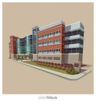 Building Illustration: VT Medical Research Center by plaidklaus