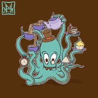 Mr Octosquidy's Tea Party by phantoms-siren