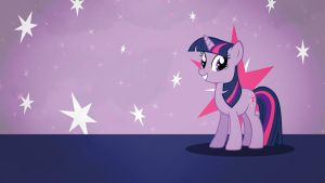 Twilight Sparkle wallpaper minimalistic by Nidrax