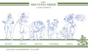 Second Seed Cast Lineup by travelingpantscg