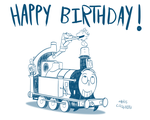 Teeny Birthday Train by qwertypictures