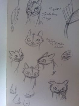 Toothless Sketchdump by Katy-Cat93