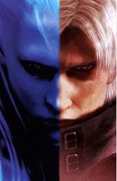 Devil may cry Dante vergil by Blondanime