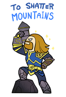 Smite - To Shatter Mountains (Chibi) by Zennore