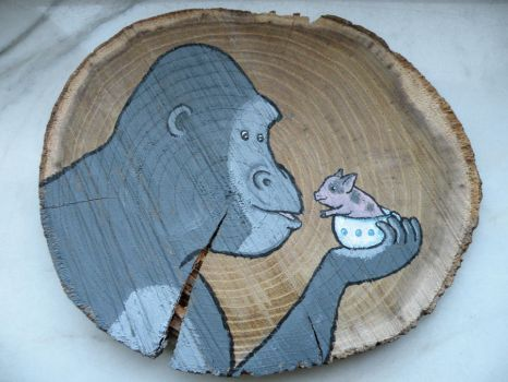 The gorilla and the teapot pig by AnNuttin