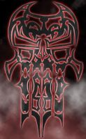 Tribal Skull by Punisher01