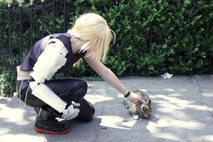 FMA Cosplay - Ed finds a cat by Darizard