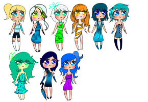 Chibi Adopts 10 Points :OPEN: by Music-of-the-World