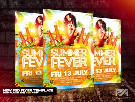 Summer Fever Party Flyer Template by pawlowskiart