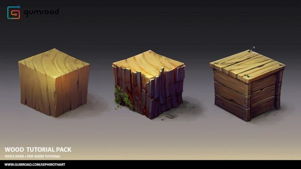 Wood Tutorial Pack by Sephiroth-Art