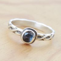 Pick Yer Own Stone - Sapphire Ring by metalsmitten