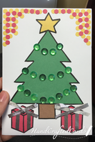 Christmas Tree and Presents Card by HandCraftedCards
