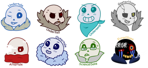 Sans's Cuteness Transcends Dimensions by Becca-The-Baka