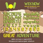 Great Adventure font by weknow by weknow