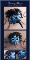 Dusklight Raven - Leather Mask by windfalcon