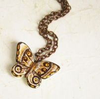 Butterfly Necklace by FlowerLandBySaraMax