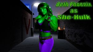 Beth Phoenix as SHE-HULK wp by SWFan1977