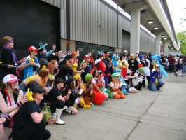 Pokemon Battle - Anime Central 2013. by EndOfGreatness